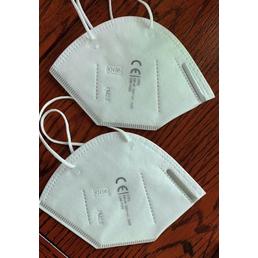 Staubschutzmaske, KN 95, FFP 2, Weiß, Gewebe, 5 Stück