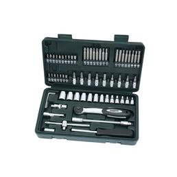 BRUEDER MANNESMANN WERKZEUGE Steckschlüsselkasten 65-teilig, Schlüsselgröße: 4 – 14 mm