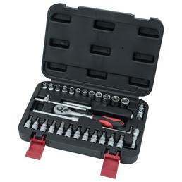CONNEX Steckschlüsselsatz 33-teilig, Schlüsselgröße: 4 – 13 mm
