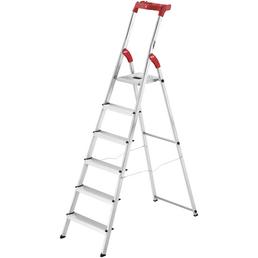 HAILO Stehleiter, 6 Stufen, Aluminium/Kunststoff