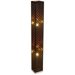 GLOBO LIGHTING Stehleuchte »CLARKE« nickelfarben mit 40 W, 2-flammig, H: 118 cm, E27 ohne Leuchtmittel