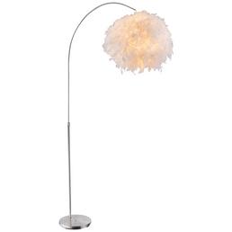 GLOBO LIGHTING Stehleuchte »KATUNGA« weiß/nickelfarben mit 40 W, H: 196 cm, E27 ohne Leuchtmittel