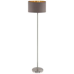 EGLO Stehleuchte »MASERLO« goldfarben/cappuccinofarben mit 60 W, H: 151 cm, E27 ohne Leuchtmittel