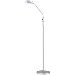 wofi® Stehleuchte silberfarben mit 4 W, H: 130 cm, LED inkl. Leuchtmittel in neutralweiß