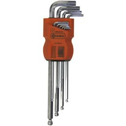CONNEX Stiftschlüsselsatz 9-teilig, Schlüsselgröße: 1,5; 2; 2,5; 3; 4; 5; 6; 8; 10 mm