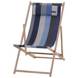 MADISON Strandstuhl »Victoria blau«, Breite: 56  cm, Baumwolle/ Polyester