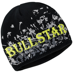BULLSTAR Strickmütze, Polyester/Polyacryl, schwarz
