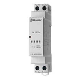 FINDER ® Stromstoßschalter, 230 V, Schließer, Glühlampenleistung 3000 W, Hutschienenmontage, Grau