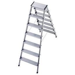 HAILO Stufen-Doppelleiter, Anzahl Sprossen: 14, Aluminium