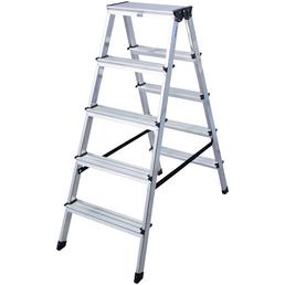 KRAUSE Stufen-Doppelleiter »MONTO«, Anzahl Sprossen: 10, Aluminium