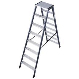 KRAUSE Stufen-Doppelleiter »MONTO SePro D«, 16 Sprossen, Aluminium