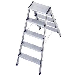 HAILO Stufen-Doppelleiter »StandardLine«, Anzahl Sprossen: 10, Aluminium