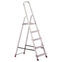 KRAUSE Stufen-Stehleiter »CORDA«, 5 Sprossen, Aluminium