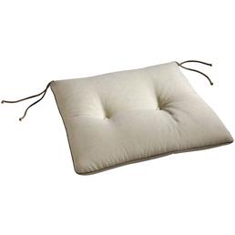 BEST Stuhlauflage, beige, Uni, BxL: 46 x 45 cm