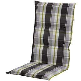 DOPPLER Stuhlauflage »Comfort Light«, Niederlehner, grün/braun/beige, kariert, BxL: 50 x 100 cm