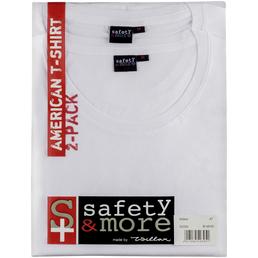 SAFETY AND MORE T-Shirt, Baumwolle, Weiß, XXL