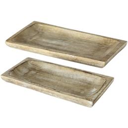 BOLTZE Tablett »BORNHOLM«, Holz, natur