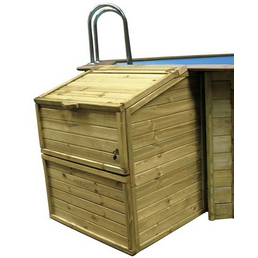 GRE Technikbox, BxHxT: 100 x 131 x 88 cm, Holz, geeignet für: Holzpools
