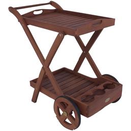GARDEN PLEASURE Teewagen »Toledo«, Terrasse, Garten, Balkon, Eukalyptusholz, holzrot