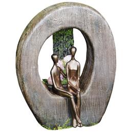 GRANIMEX Teichfigur »Paris und Helena«, Polystone, natur/bronzefarben