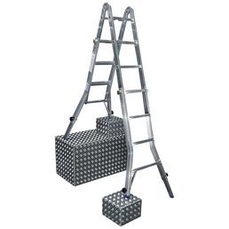 KRAUSE Teleskopleiter »STABILO«, Anzahl Sprossen: 16, Aluminium