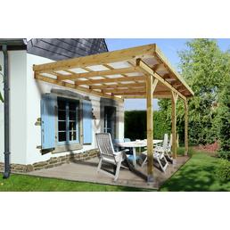 WEKA Terrassendach »671«, Breite: 514 cm, Dach: Kunststoff, Farbe: natur