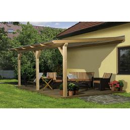 WEKA Terrassendach »672«, Breite: 541 cm, Dach: Kunststoff, Farbe: natur
