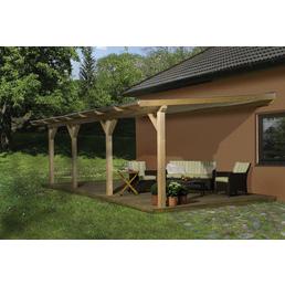 WEKA Terrassendach »672«, Breite: 648 cm, Dach: Kunststoff, Farbe: natur