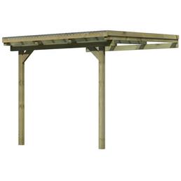 KARIBU Terrassendach, Breite: 244 cm, Dach: Polyvinylchlorid (PVC), natur