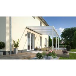 GARDENDREAMS Terrassendach »Easy Edition«, Breite: 300 cm, Dach: Polycarbonat (PC), Farbe: weiß