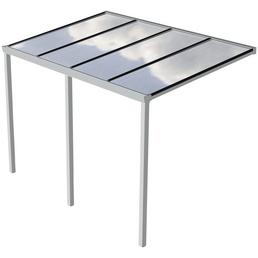 GARDENDREAMS Terrassendach »Easy Edition«, Breite: 400 cm, Dach: Polycarbonat (PC), Farbe: weiß
