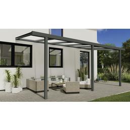 GARDENDREAMS Terrassendach »Easy Edition«, Breite: 600 cm, Dach: Polycarbonat (PC), Farbe: anthrazit