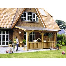 Terrassendach, H (max) x B x T: 260  x 122 x 203 cm