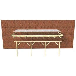 KARIBU Terrassendach »Modell 1«, H (max) x B x T: 222  x 402 x 250 cm