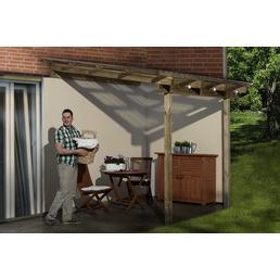 WEKA Terrassenüberdachung »671 Gr. 1«, Breite: 199 cm, Dach: Kunststoff, gruen|braun