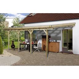 WEKA Terrassenüberdachung »671 Gr. 5«, Breite: 579 cm, Dach: Kunststoff, gruen|braun