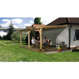WEKA Terrassenüberdachung »672 Gr.3«, Breite: 337 cm, Dach: Kunststoff, natur