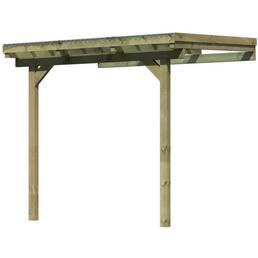 Terrassenüberdachung, Breite: 244 cm, Dach: Polyvinylchlorid (PVC), natur