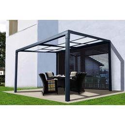 FLORAWORLD Terrassenüberdachung, Breite: 392 cm, Dach: Kunststoff, anthrazit