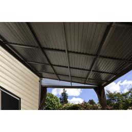Terrassenüberdachung, Breite: 483,5 cm, Dach: Stahl, anthrazit