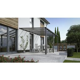 Terrassenüberdachung »Compact Line«, Breite: 424 cm, Dach: Polycarbonat (PC), anthrazitgrau