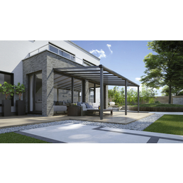 Terrassenüberdachung »Compact Line«, Breite: 544 cm, Dach: Polycarbonat (PC), anthrazitgrau