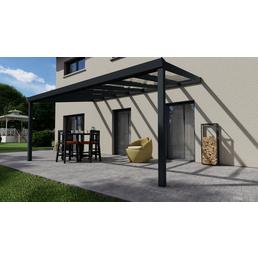 Terrassenüberdachung »Easy Edition«, Breite: 500 cm, Dach: Glas, anthrazitgrau