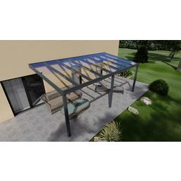 Terrassenüberdachung »Easy Edition«, Breite: 600 cm, Dach: Glas, anthrazitgrau