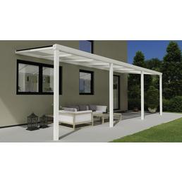 Terrassenüberdachung »Easy Edition«, Breite: 700 cm, Dach: Polycarbonat (PC), weiß