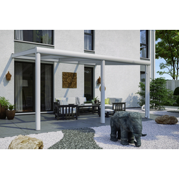 SKANHOLZ Terrassenüberdachung »Garda«, Breite: 434 cm, Dach: Polycarbonat (PC), weiß