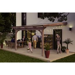 SKANHOLZ Terrassenüberdachung »Ravenna«, Breite: 434 cm, Dach: Polycarbonat (PC), braun