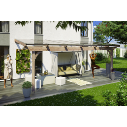 SKANHOLZ Terrassenüberdachung »Ravenna«, Breite: 648 cm, Dach: Polycarbonat (PC), natur