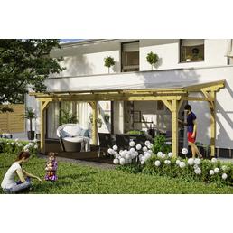 Terrassenüberdachung »Sanremo«, Breite: 648 cm, Dach: Polycarbonat (PC), natur