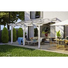 Terrassenüberdachung »Venezia«, Breite: 434 cm, Dach: Polycarbonat (PC), weiß